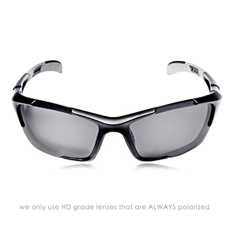 37a5ad4fb91 Amazon.com  Hulislem S1 Sport Polarized Sunglasses Sunglasses for Men Women  Mens Womens Running Golf Sports FDA Approved (Matte Black-Smoke)  Sports    ...