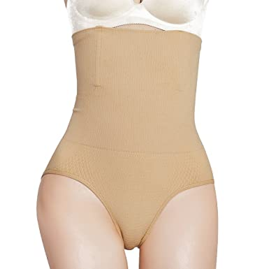 21a181be89 ZUIMIMI Womens High Waist Shapewear Magic Body Shaper Control Knickers  Panties - Beige -