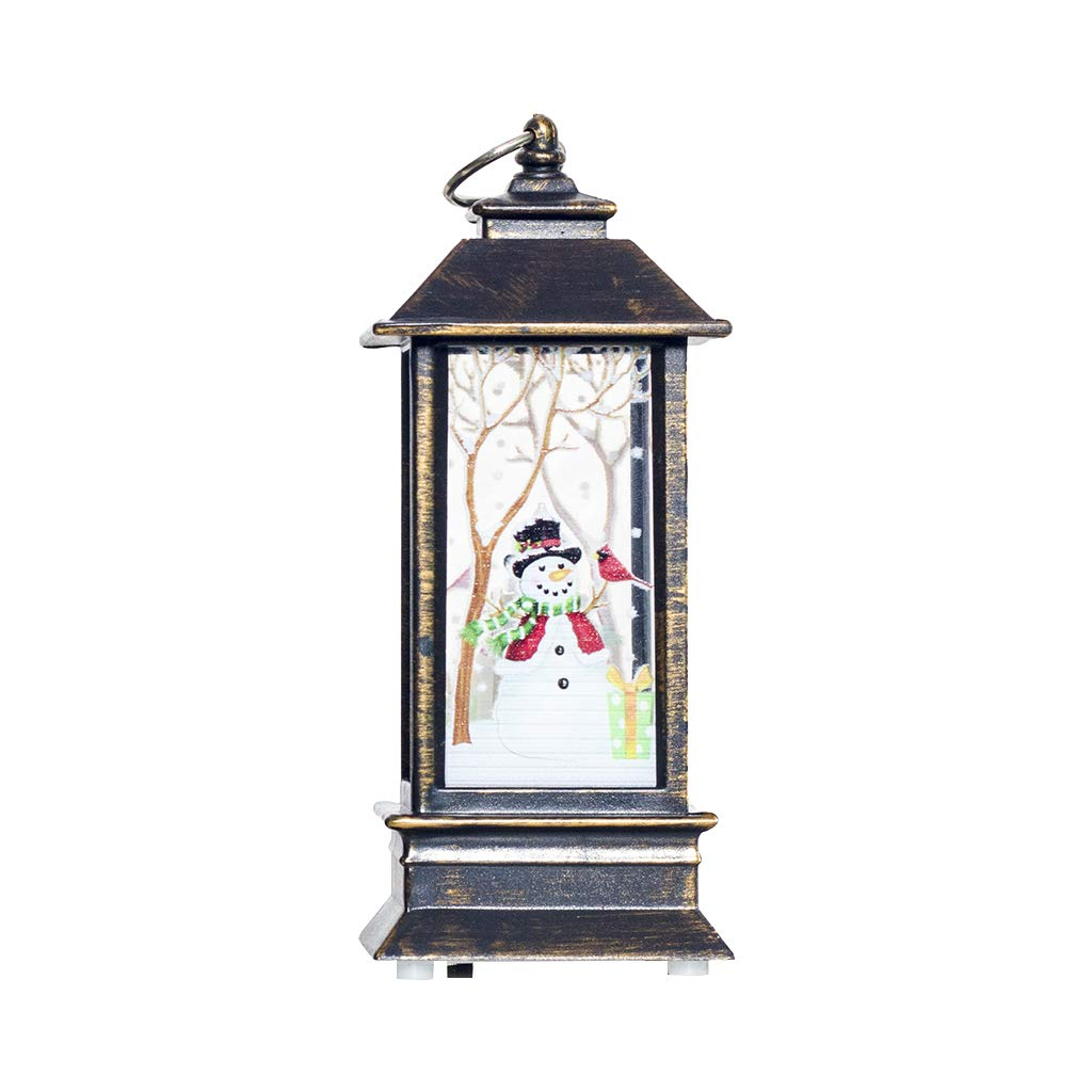 Keaiduoa Christmas Decoration Candlestick Pendant Xmas Mini Table Lamp Decor Wind Light (Bronze)