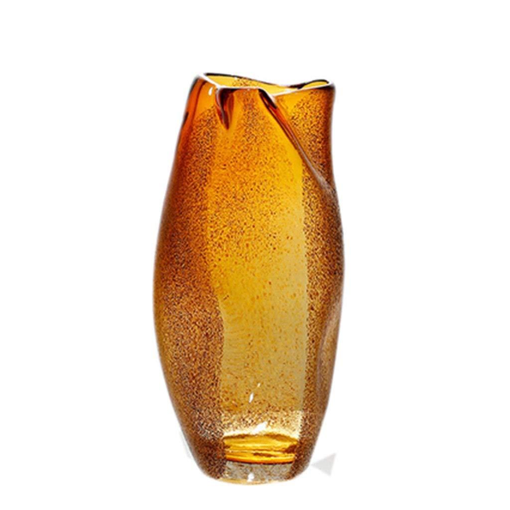 フラワーベース花器 花瓶ガラス花瓶カラー花瓶リビング用オフィス装飾ドライフラワーフラワーアレンジャー工芸品 (Color : Orange, Size : 16*26cm) B07T2RND3K Orange 16*26cm