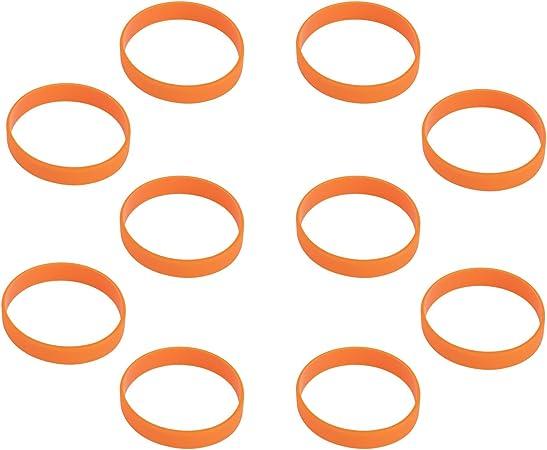11thGear Lot de 4 bracelets personnalisables en caoutchouc de silicone pour homme et femme