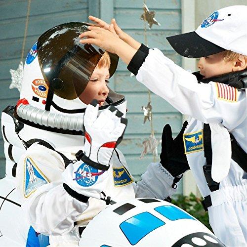 Kids Astronaut Helmet NASA Space Suit Costume Acsry Halloween Fancy Dress