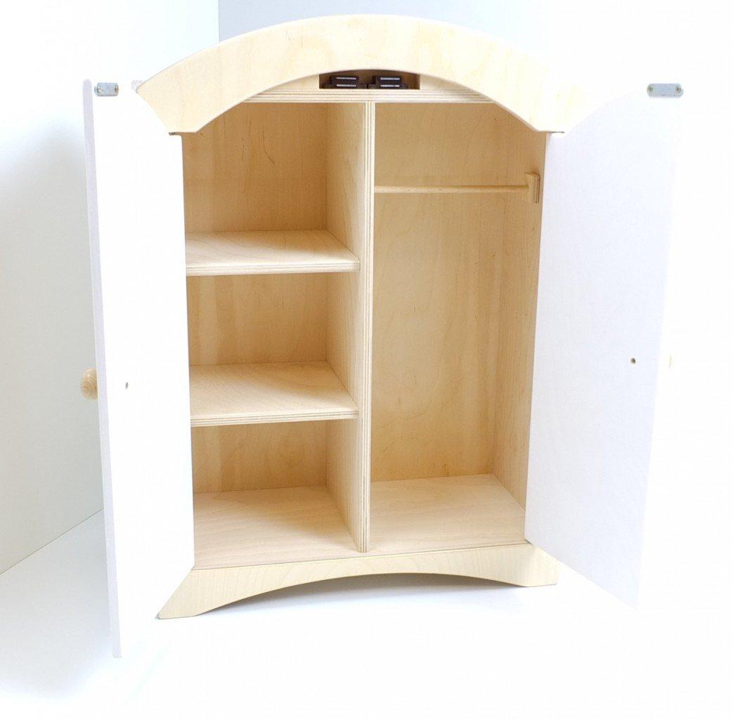 Puppenkleiderschrank inkl. 5 Kleiderbügeln / Material: Holz ...