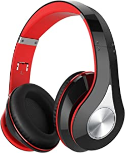 65Hrs Wireless Headphones, Wireless 5.0 Headphones Over Ear, HiFi Sound, Built-in Microphone, Memory-Protein Earmuffs, Wireless Wired Headset for Home Office, Online Class, Phone, TV