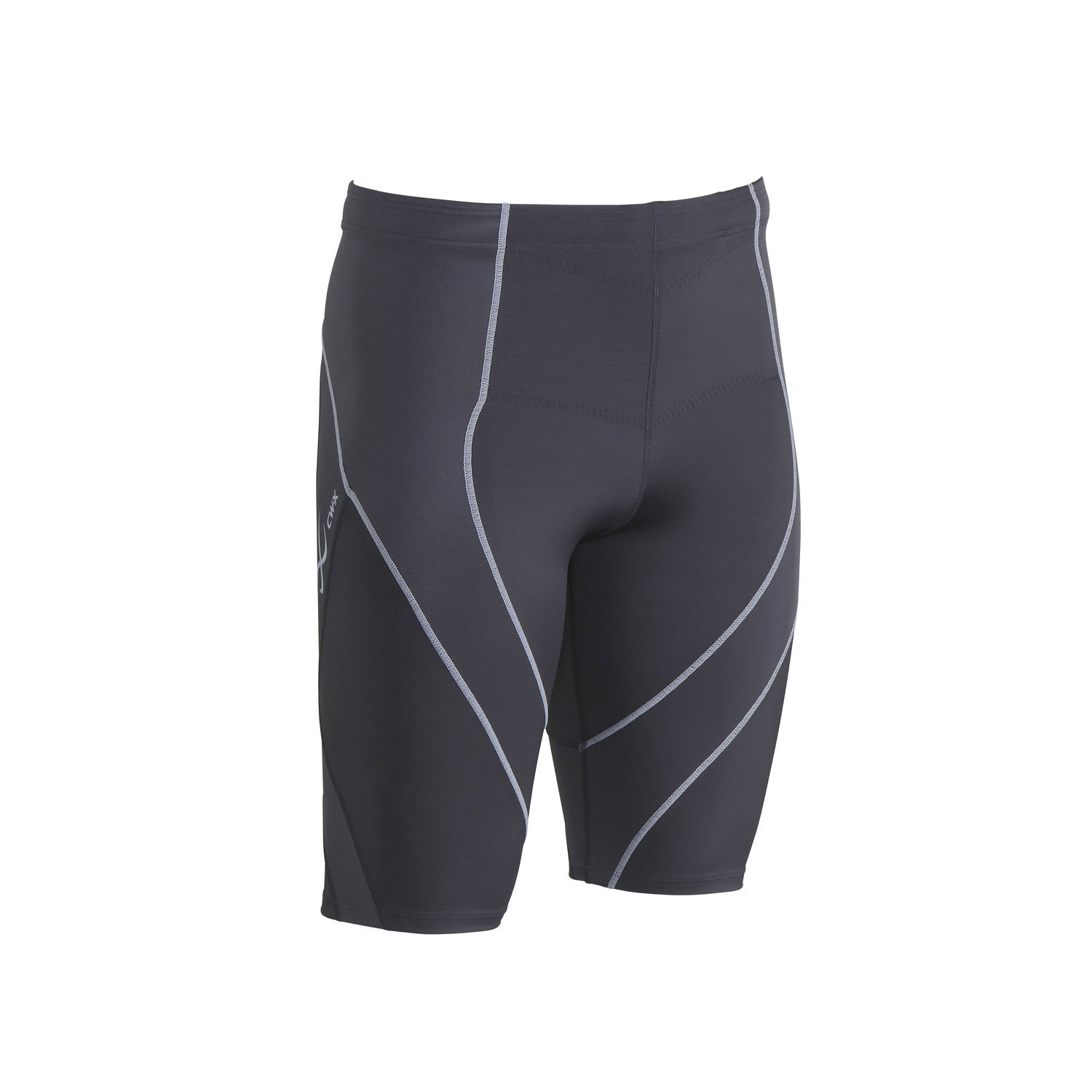 CW-X Men's Endurance Pro Shorts, Charcoal/Charcoal/Silver, Medium by CW-X (Image #2)