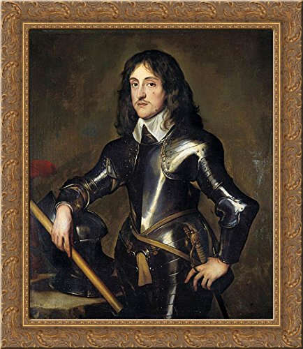 Portrait of Prince Charles Louis, Elector Palatine 24x20 Gold Ornate Wood Framed Canvas Art by Anthony van Dyck