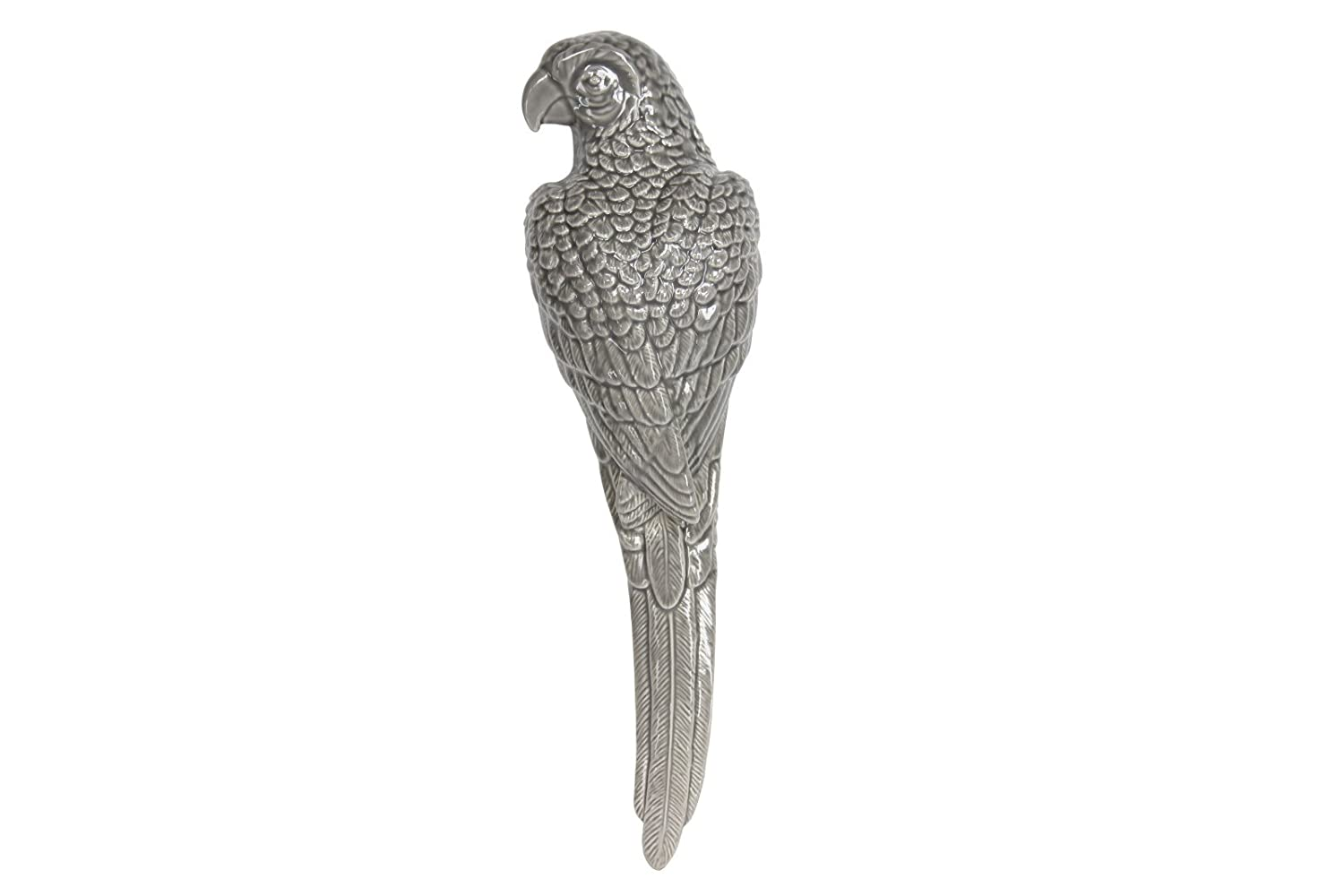 Ceramic Wall Hanging GREY PARROT by Gisela Graham