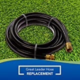 Suncast Outdoor Garden Hose Extension 10 Feet - for Industrial or Domestic, Use in Your Yard, Black
