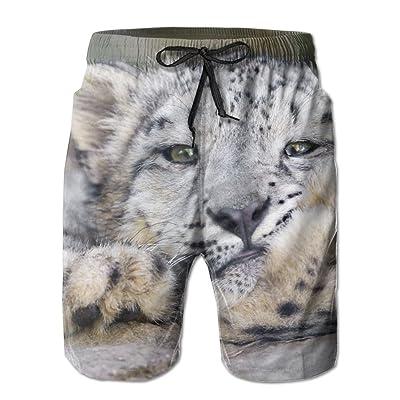 Snow Leopard Big Cat Leopard CarnivoreHandsome Fashion Summer Cool Shorts Swimming Trunks Beachwear Beach Shorts
