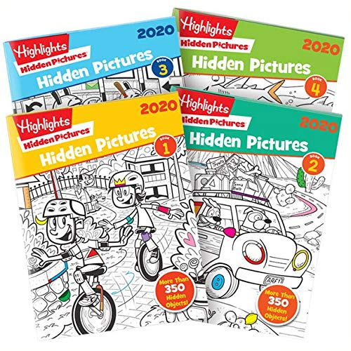 Highlights Hidden Pictures 2020 4-Book Set