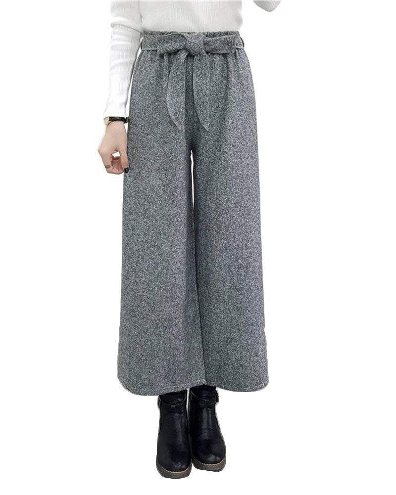8ed5280009508 Pantaloni Palazzo Donna Colori Solidi High Waist Gamba Larga Pantaloni  Autunno Invernali Fashion Eleganti Basic Sciolto