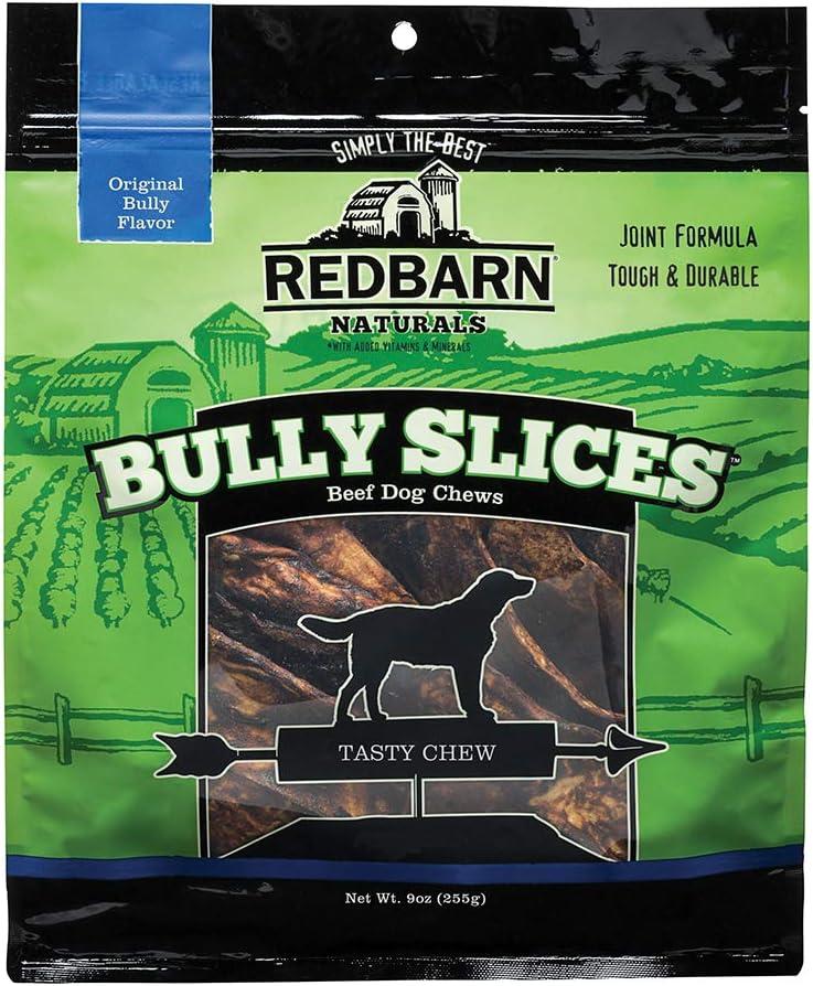 Redbarn Bully Slices for Dogs (Original Bully) Natural Dental Treats (1 Bag)