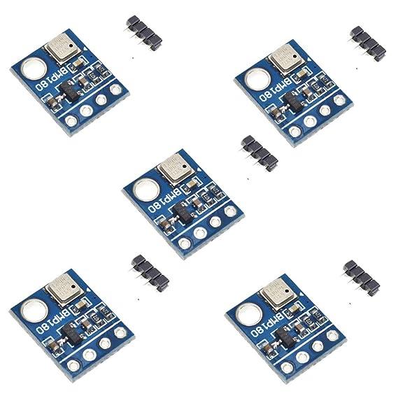 hiletgo GY-68 BMP180 presión barométrica módulo sensor Reemplace BMP085 digital de interfaz I2 C para Arduino (paquete de 5): Amazon.es: Electrónica