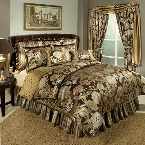 Austin Horn Classics Wonderland 4-Piece Bedding Collection, King, Brown (Bedskirt Austin)