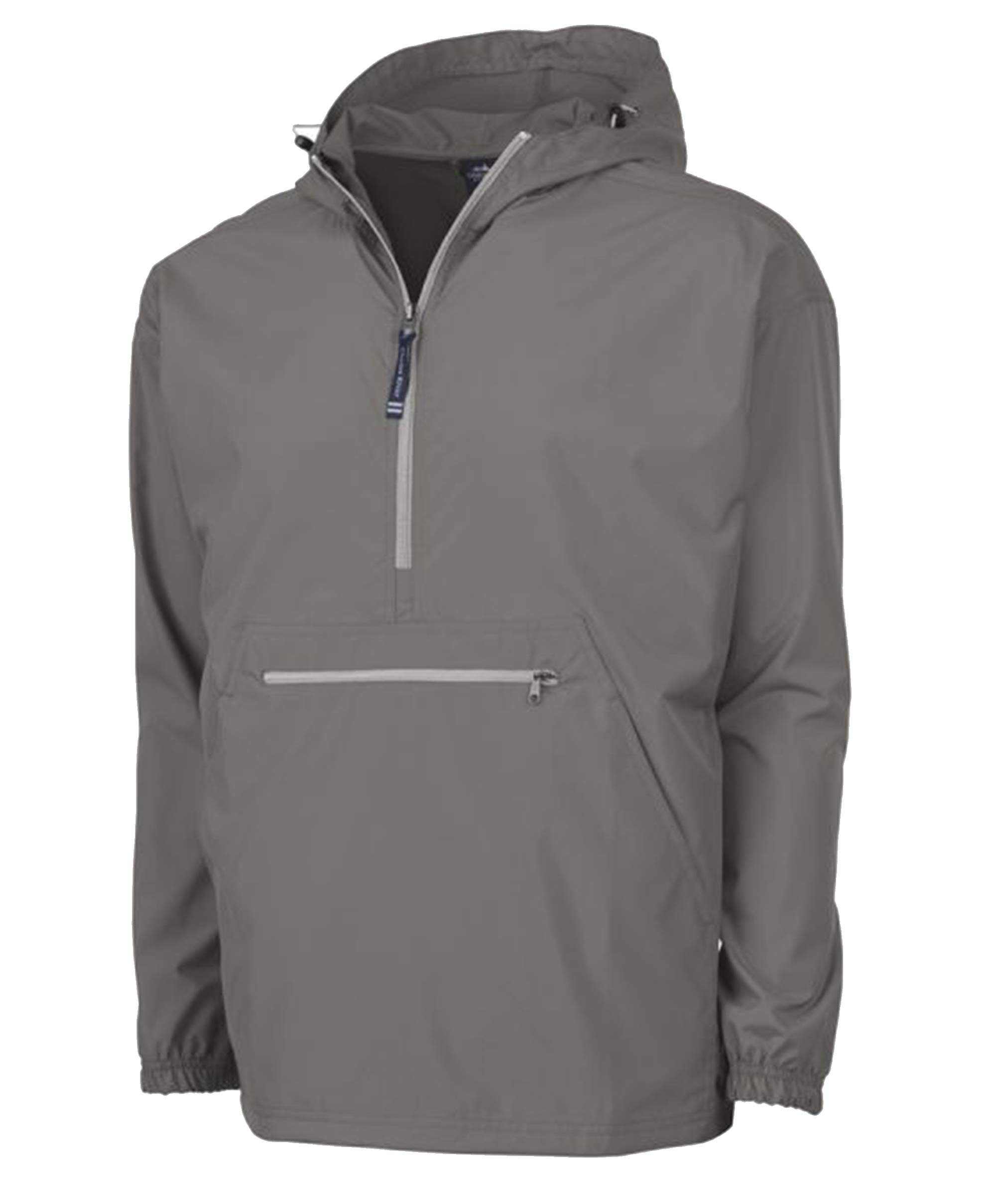 Charles River Apparel Pack-N-Go Wind & Water-Resistant Pullover (Reg/Ext Sizes), Grey, XL