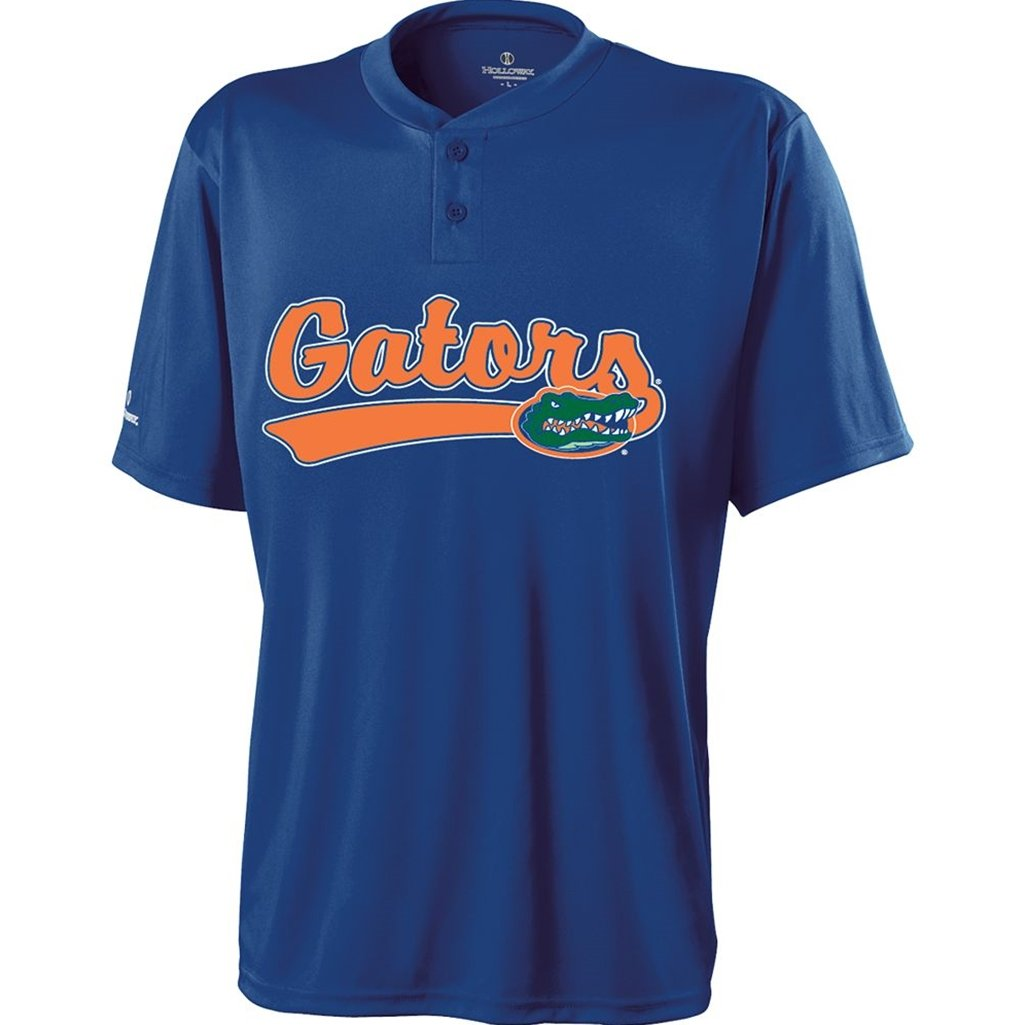 Holloway Florida Gators Ball Park Jersey (XX-Large, Blue/Orange) by Holloway