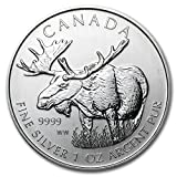 2012 CA Canada 1 oz Silver Wildlife Series Moose 1 OZ Brilliant Uncirculated