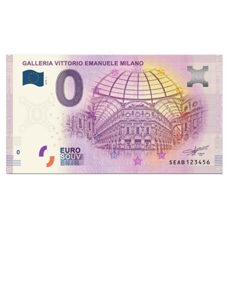 Galería Vittorio Emanuele Italia 2018 0 Euro Cero Recuerdo Fantoni