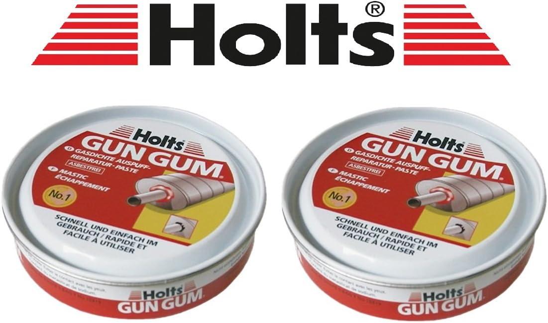 Holts Praktisches Set 2 X 200g Original Gun Gum Paste Auspuff Dichtungspaste Auspuffmontagepaste Auspuff Reparatur Auto