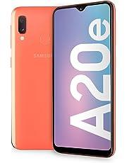 "Samsung Galaxy A20e Display 5.8"", 32 GB Espandibili, RAM 3 GB, Batteria 3000 mAh, 4G, Dual SIM Smartphone, Android 9 Pie, (2019) [Versione Italiana], Coral"