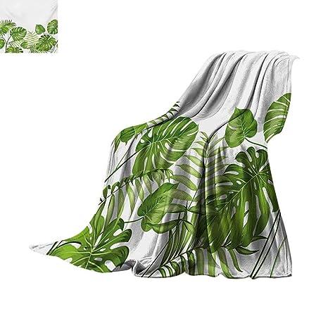 37473f26cb9e8 Amazon.com: Leaf Super Soft Lightweight Blanket Nature Jungle Forest ...