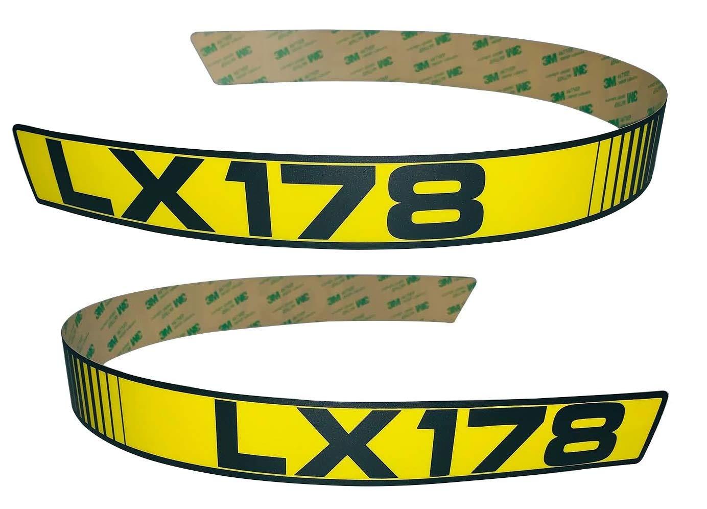Kumar Bros USA New LH & RH Upper Hood Decal Set Replaces M116038 M116039 Fits John Deere LX178
