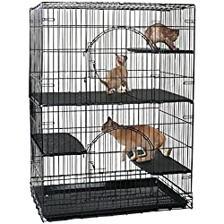 Proselect Cat Cage Deluxe Platforms Made of Durable, Easy-to-clean Black Plastic