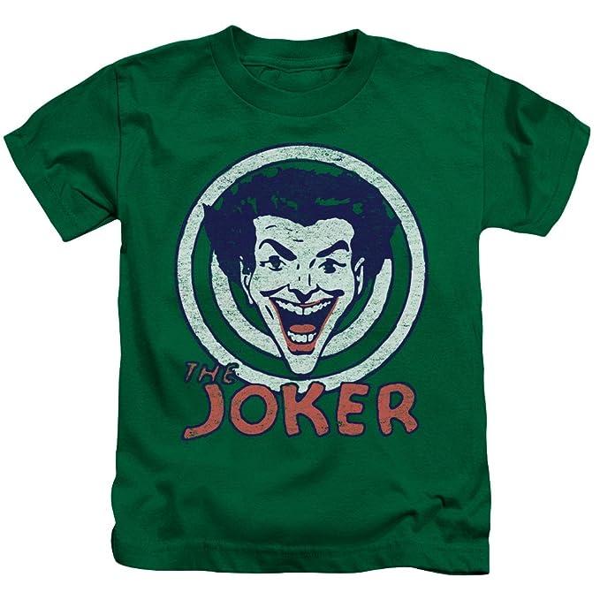 DC Comics - Camiseta de Manga Corta - Manga Corta - para niño Verde Kelly Green