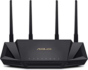 ASUS WiFi 6 Router (RT-AX3000) - Dual Band Gigabit Wireless Internet Router, Gaming & Streaming, AiMesh Compatible, Free Lifetime Internet Security, Parental Control, MU-MIMO, OFDMA