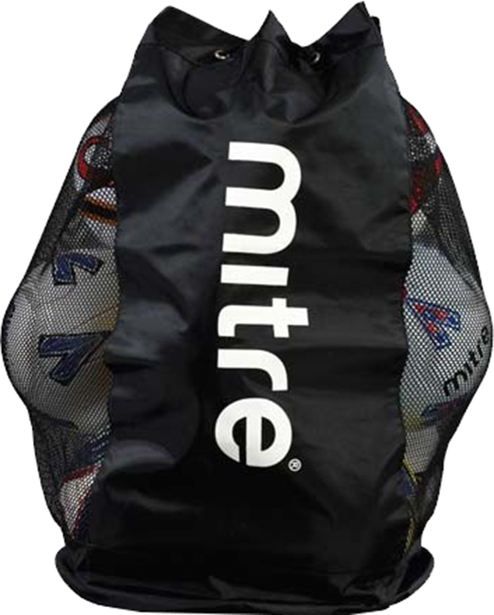 New Mitre Mesh Ball Carrying Sack Multisports Draw Cord Balls Carry Bag by Mitre by mitre