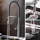 Moli Pull Out Kitchen Sink Faucets Single Handle 360° Swivel Spouts Chrome Finish K908C