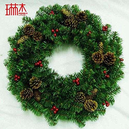 Christmas Garland for Stairs fireplaces Christmas Garland Decoration Xmas Festive Wreath Garland with Pine cones Christmas wreath,60cm
