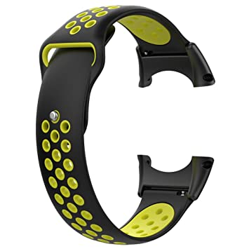 Beatie Correa para Relojes Inteligentes, Correa de Pulsera de reemplazo de Silicona Suave para Core All Black Sports Smart Watch con Herramientas: ...