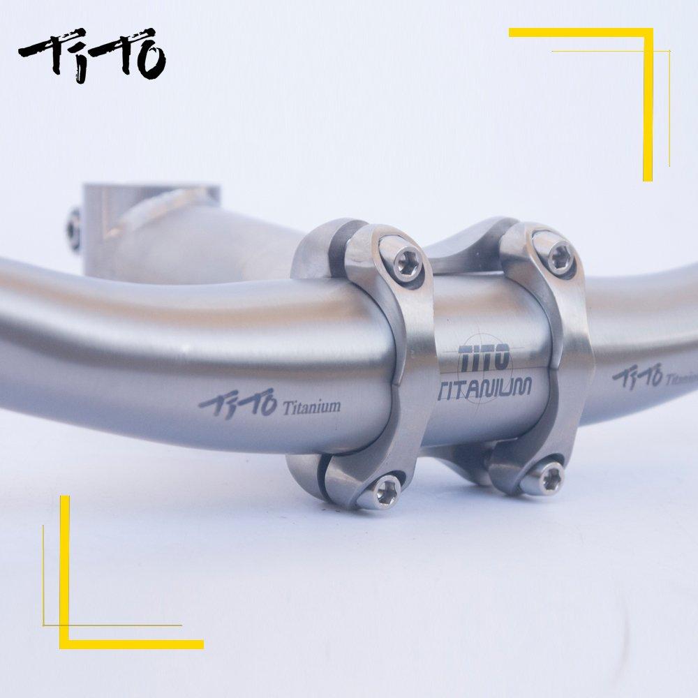TITO Titanio Titanio Swallow-Shaped Manubrio per Bici Mountain Bike MTB Riser Manubrio Bici Parti 31.8580/ /720/mm