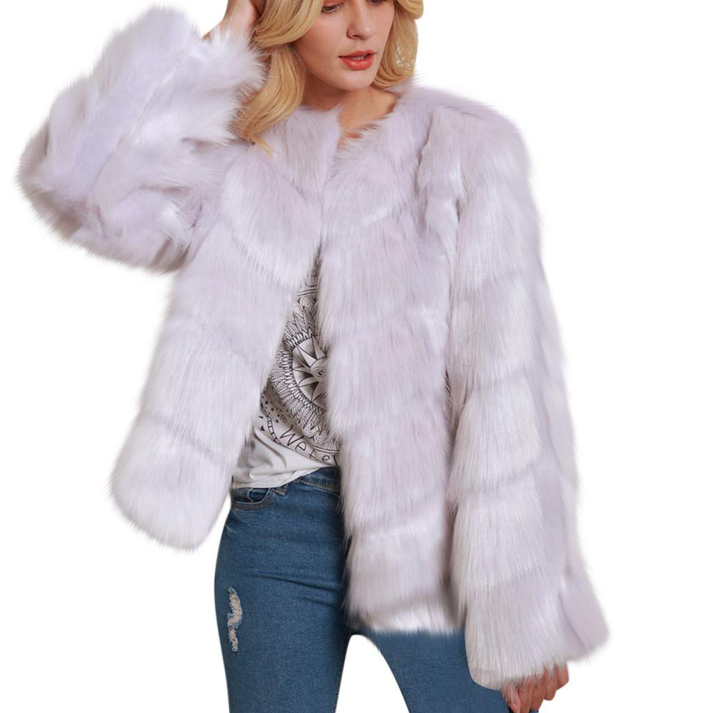 ✷ HebeTop ✷ Women Luxury Faux Fur Coat Jackets Wrap Cape Shawl for Wedding Party White by ▶HebeTop◄➟HOT SALES
