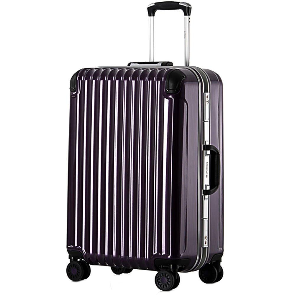 スーツケース 中型 フレーム Mサイズ 鏡面アンフィスバエナ B07BXW5FV9 小型、S、20|パープル パープル 小型、S、20