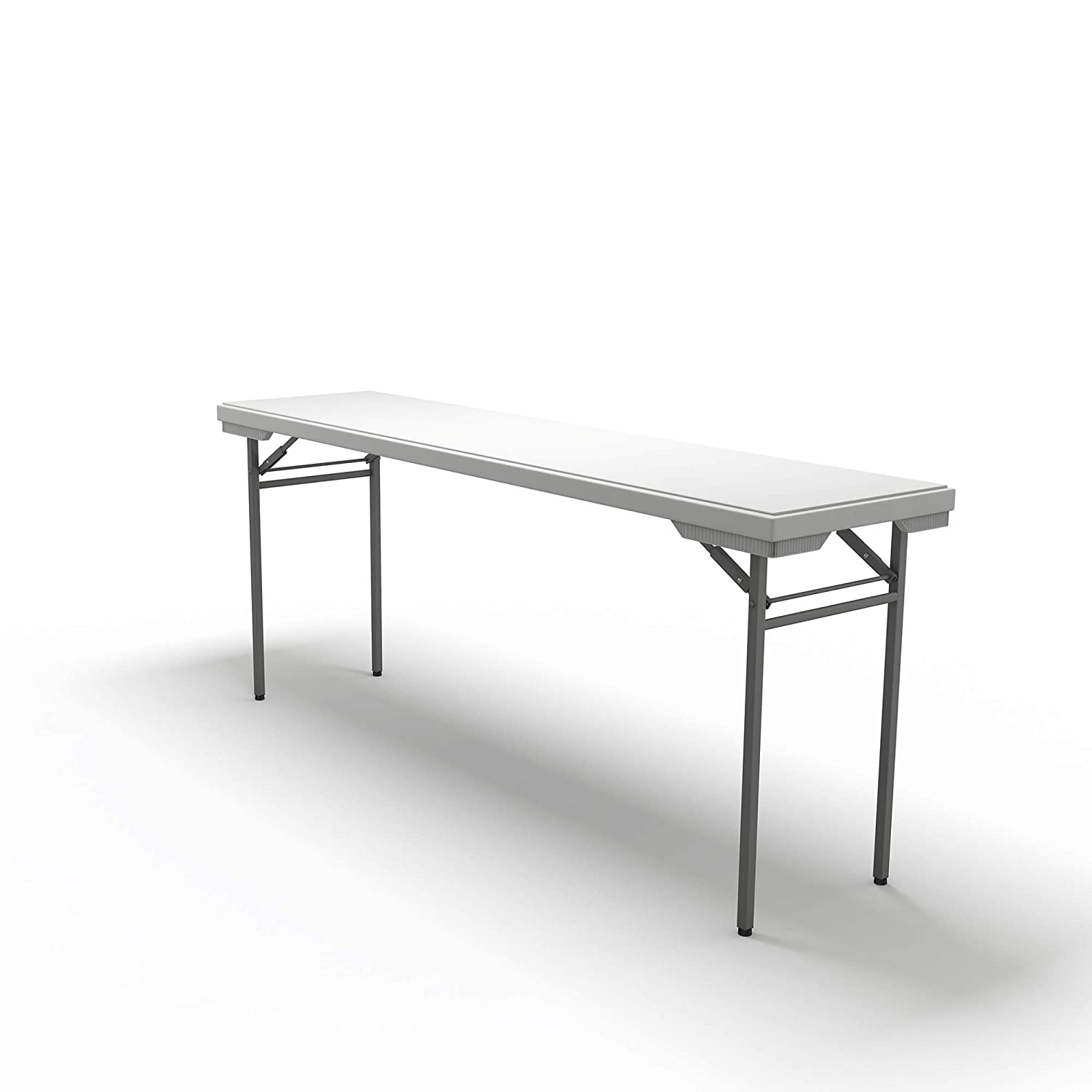 Mayline 772448DGWT Event SeriesRectangle Table 48W x 24D White Top//Dark Gray Base