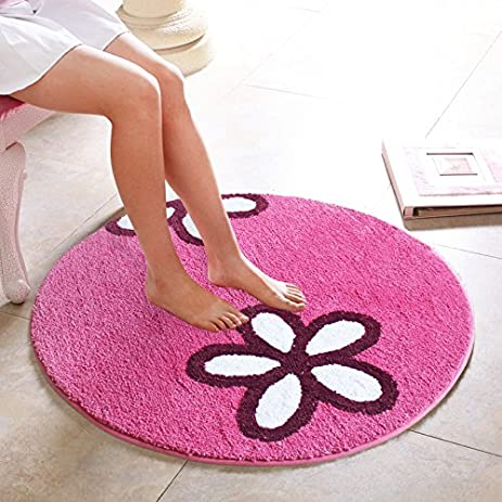 Amazon.com: Hoomy Simple Floral Design Floor Rugs Hot Pink Girls ...