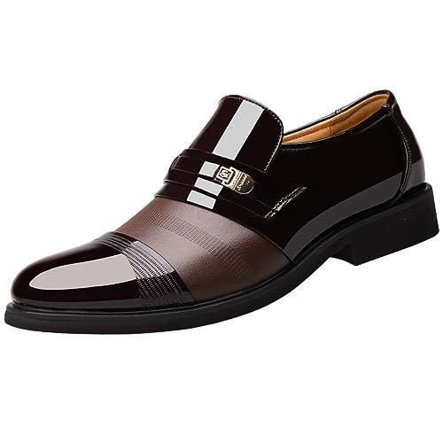 Mocasines de Cuero para Hombre Elegante Oxfords Zapatos para Vestido Formal Negocio Fiesta Boda: Amazon.es: Zapatos y complementos