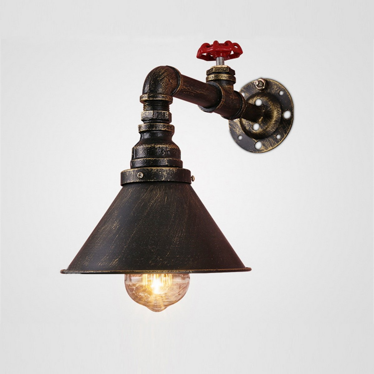 LightInTheBox Water Pipe Wall Lights Retro Industrial Style Creative Country Metal Restaurant Cafe Bars Bar Table Wall Sconces Lamp Fixture