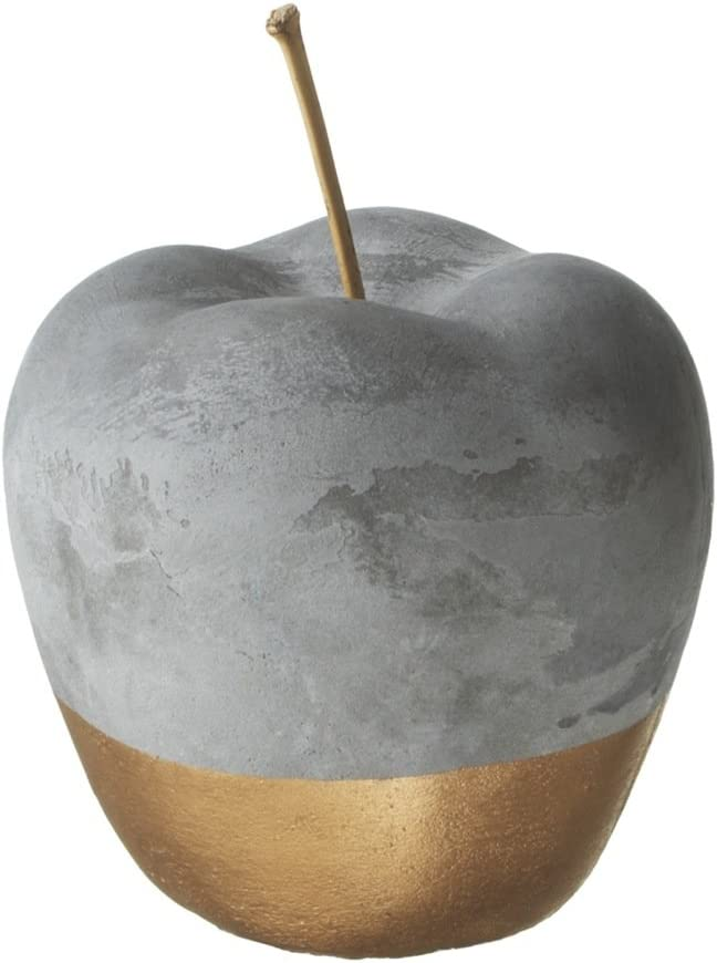 Red Co. Gold Dipped 5-Inch Cement Apple Home Decor