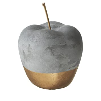 Amazon Com Red Co Gold Dipped 5 Inch Cement Apple Home Decor Home