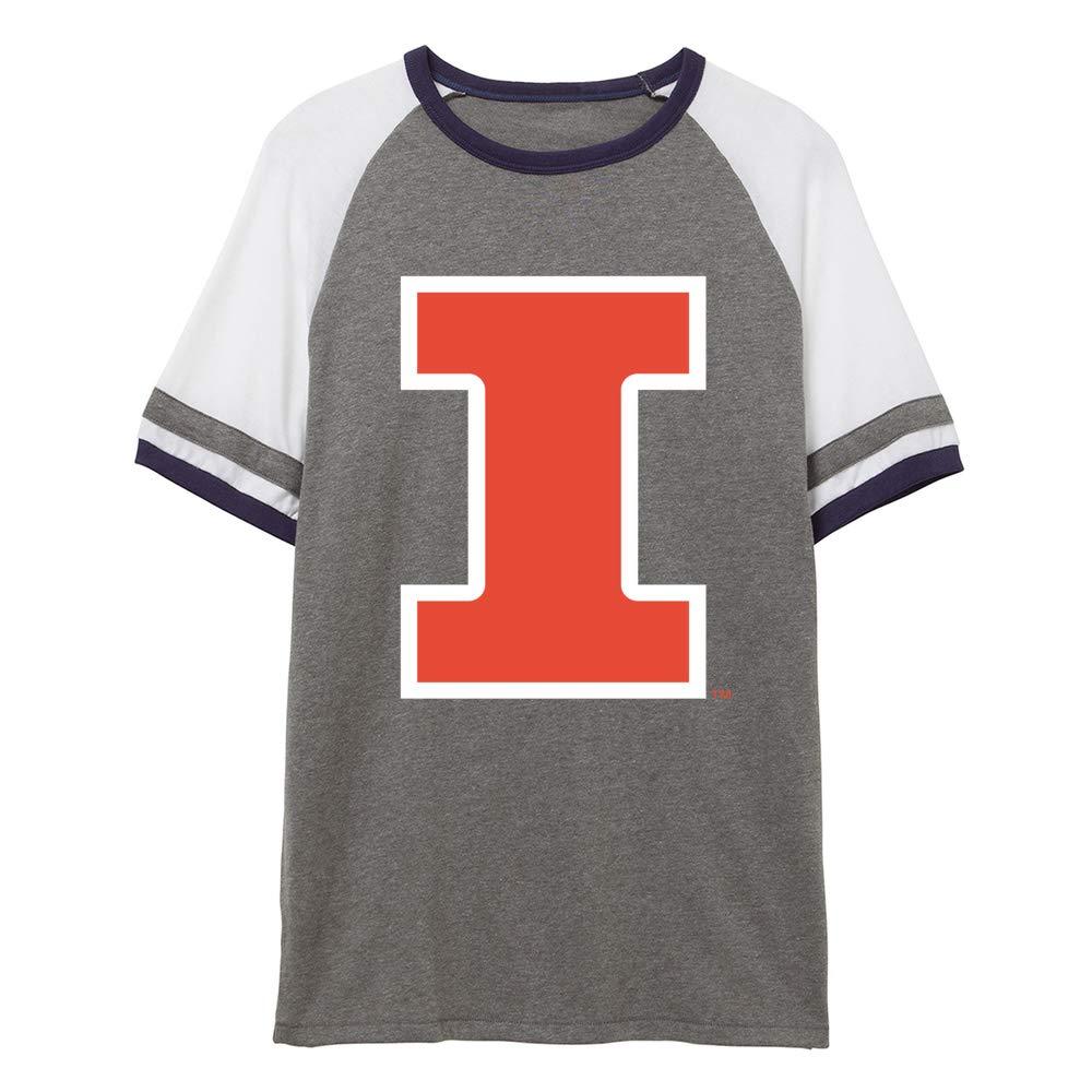 NCAA Illinois Fighting Illini RYLIL06 Unisex Slapshot Vintage Jersey T-Shirt