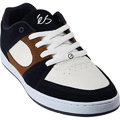 595b9772f6 eS Men Accel Slim Navy Tan White Shoes Size 5