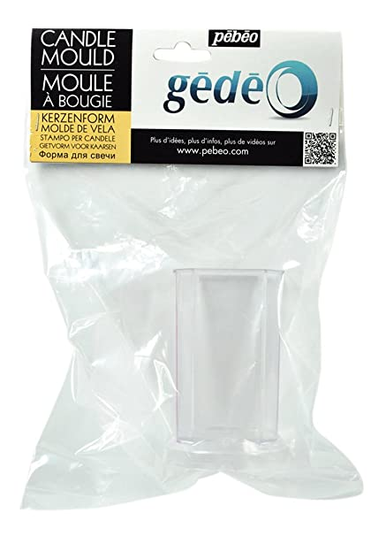 Gedeo Candle Round Mould, Transparent
