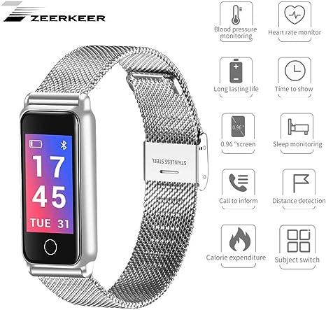 Zeerkeer Fitness Tracker Inteligente Podómetro Cardio Bluetooth ...