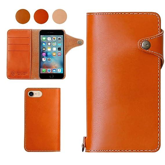 factory authentic 70e5b 6a312 Amazon.com: for iPhone 7Plus iPhone 8Plus Tochigi Aging Leather ...