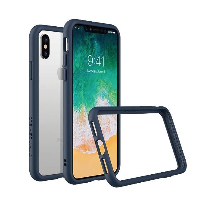 purchase cheap 7c63e b3120 RhinoShield Ultra Protective Bumper Case for [ iPhone X/XS ] CrashGuard,  Military Grade Drop Protection for Full Impact, Slim, Scratch Resistant,  Dark ...