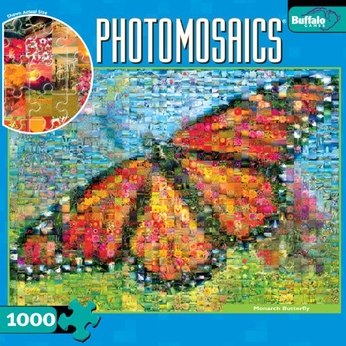 Photomosaic: Monarch Butterfly 1000pc Jigsaw Puzzle ()