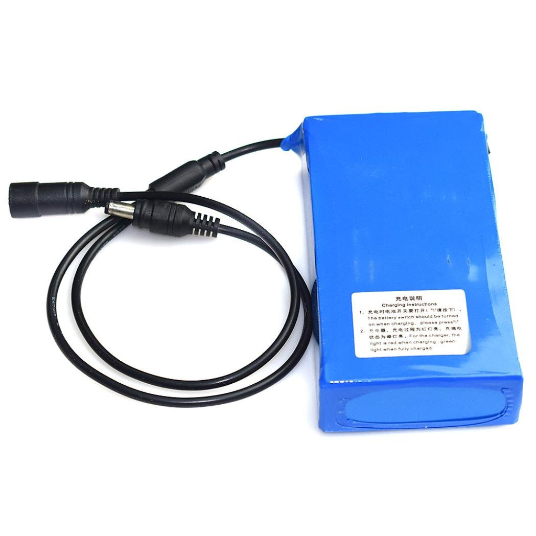 Sonmer DC 12V Super Rechargeable Li-ion Lithium Battery Pack,With US Plug (12000mAh)